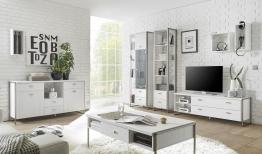 Wohnzimmer Pinie Weiss Mit Sideboard Und Couchtisch Woody 16-00776 Holz Modern