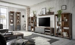 Wohnzimmer Set Stirling Oak/ Applikation Matera Woody 16-00734 Eiche Holz Modern Eiche
