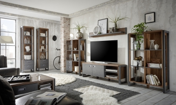 ➥ Wohnzimmer Set Stirling Oak/ Applikation Matera Woody 16-00734 ...