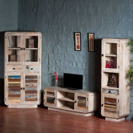 Wohnzimmer Wohnwand im Loft Style Bunt (3-teilig)